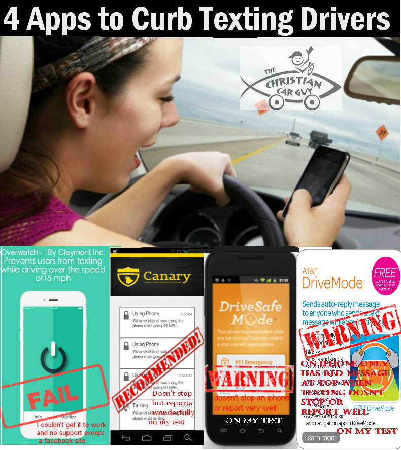 4 Apps to Curb Texting Drivers
