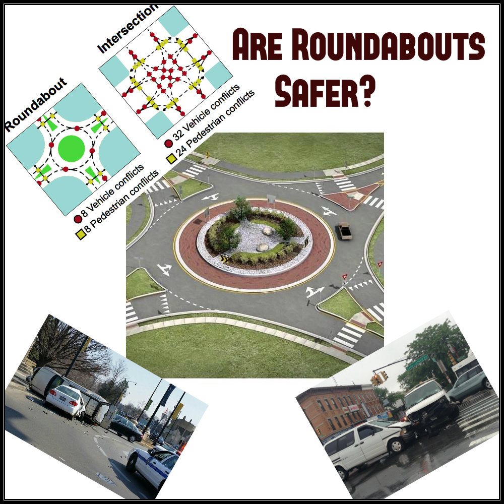 Round and Round, Are Roundabouts Safer?