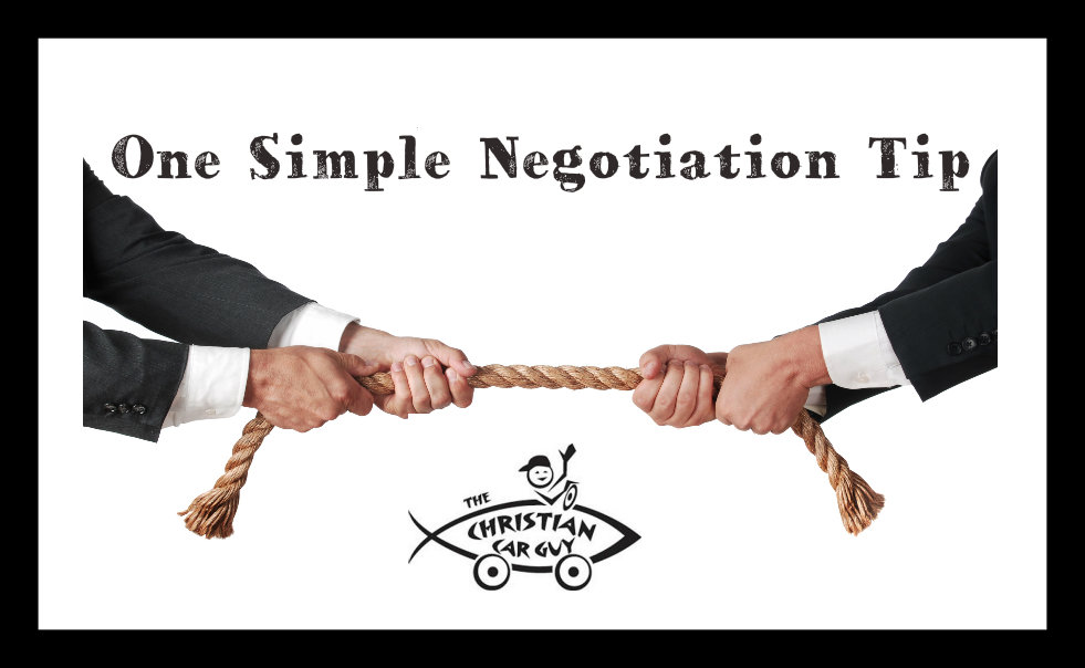 Negotiation | The Christian Car Guy Radio Show