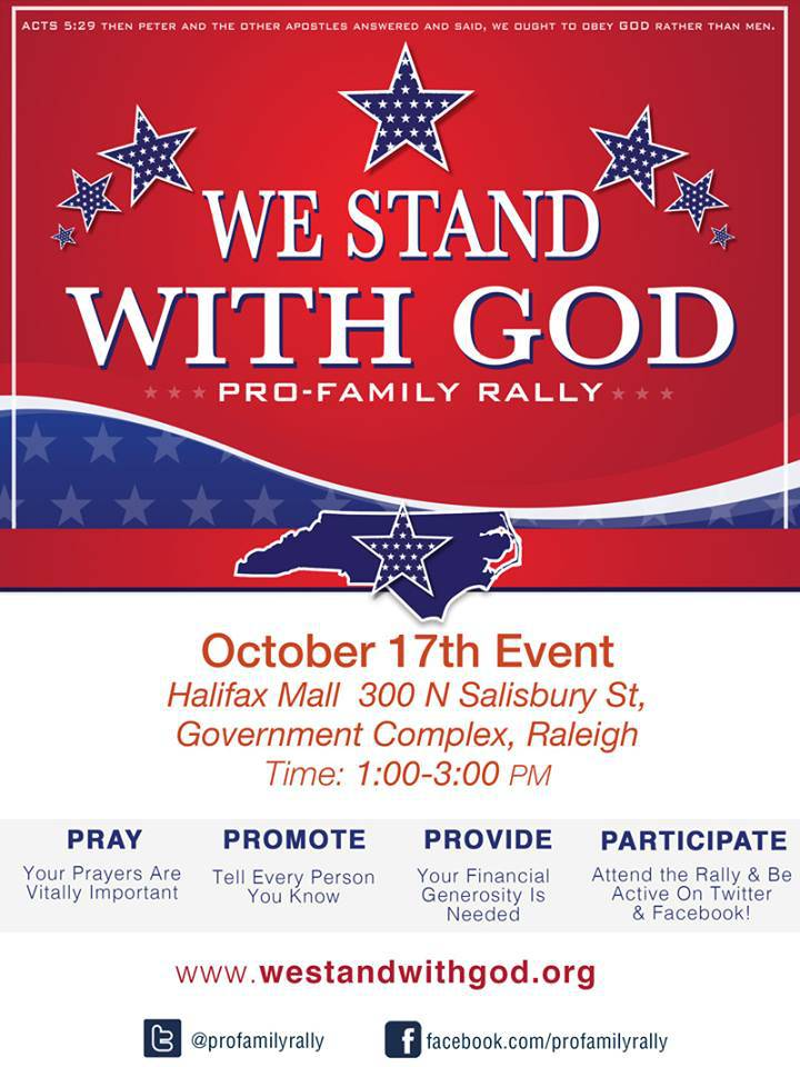 We Stand With God Pro-Family Rally