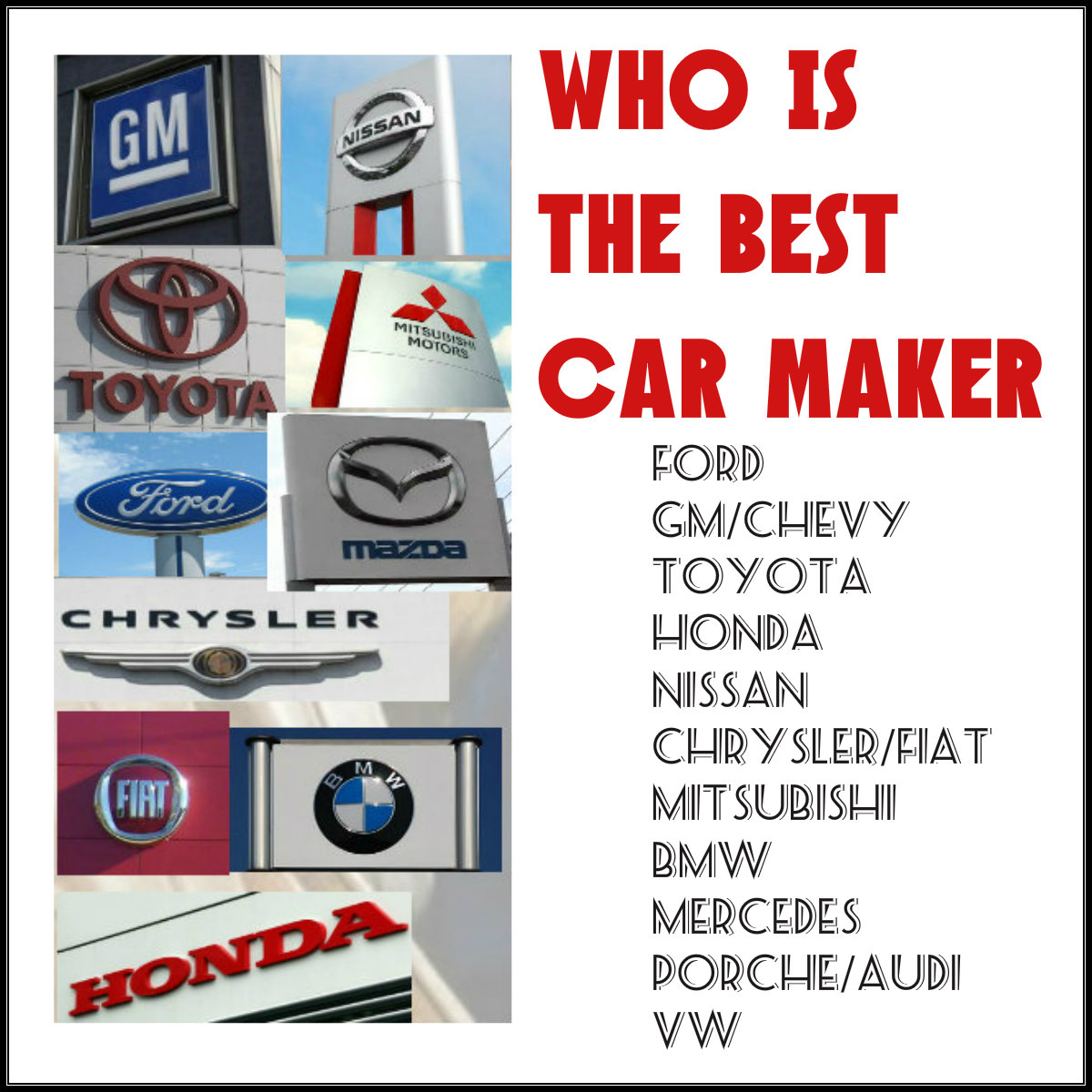 Who's The Best Car Maker