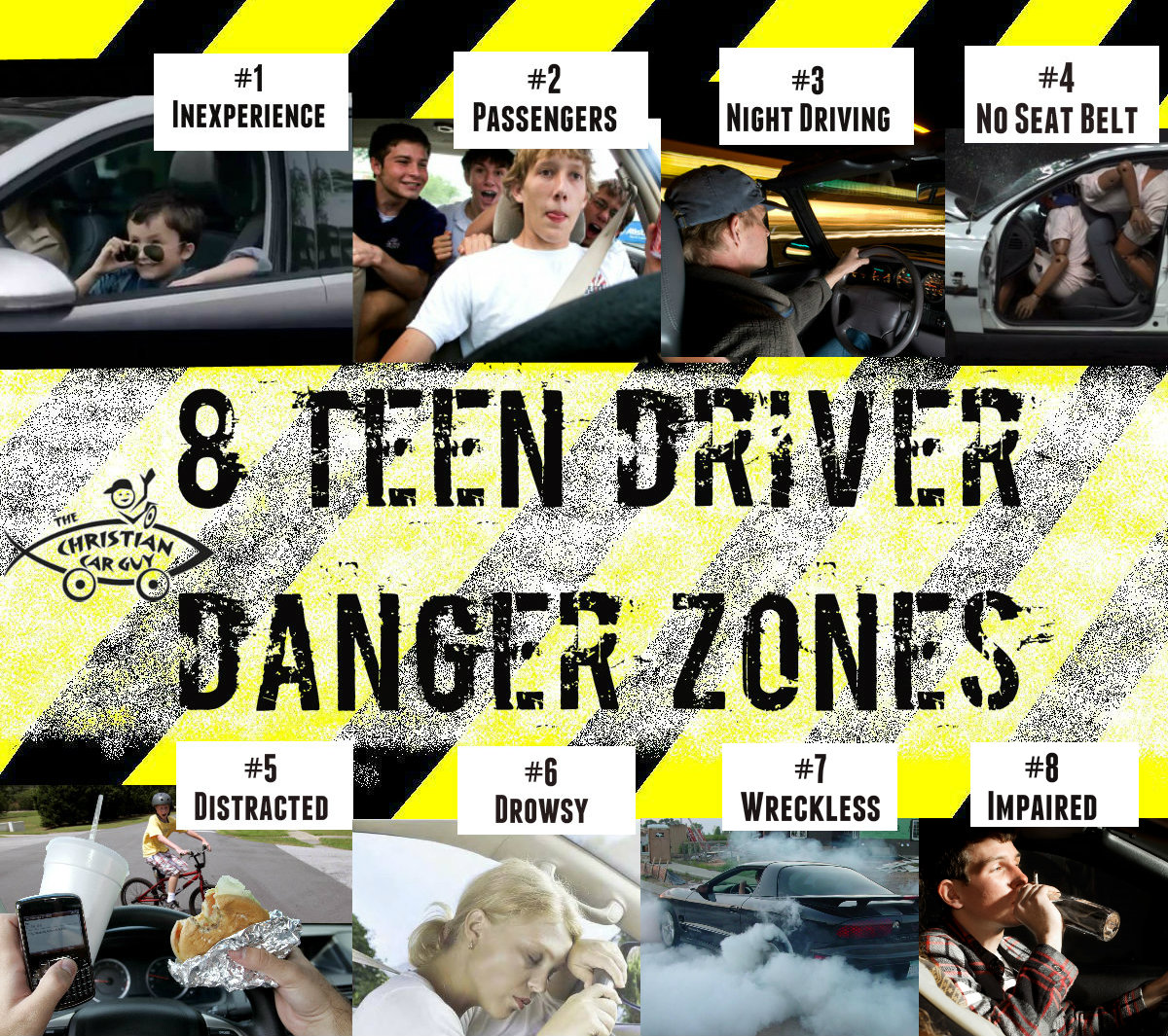 The '8' Teen Driver DANGER ZONES? Jesus is The Answer (but Perhaps not like you think)