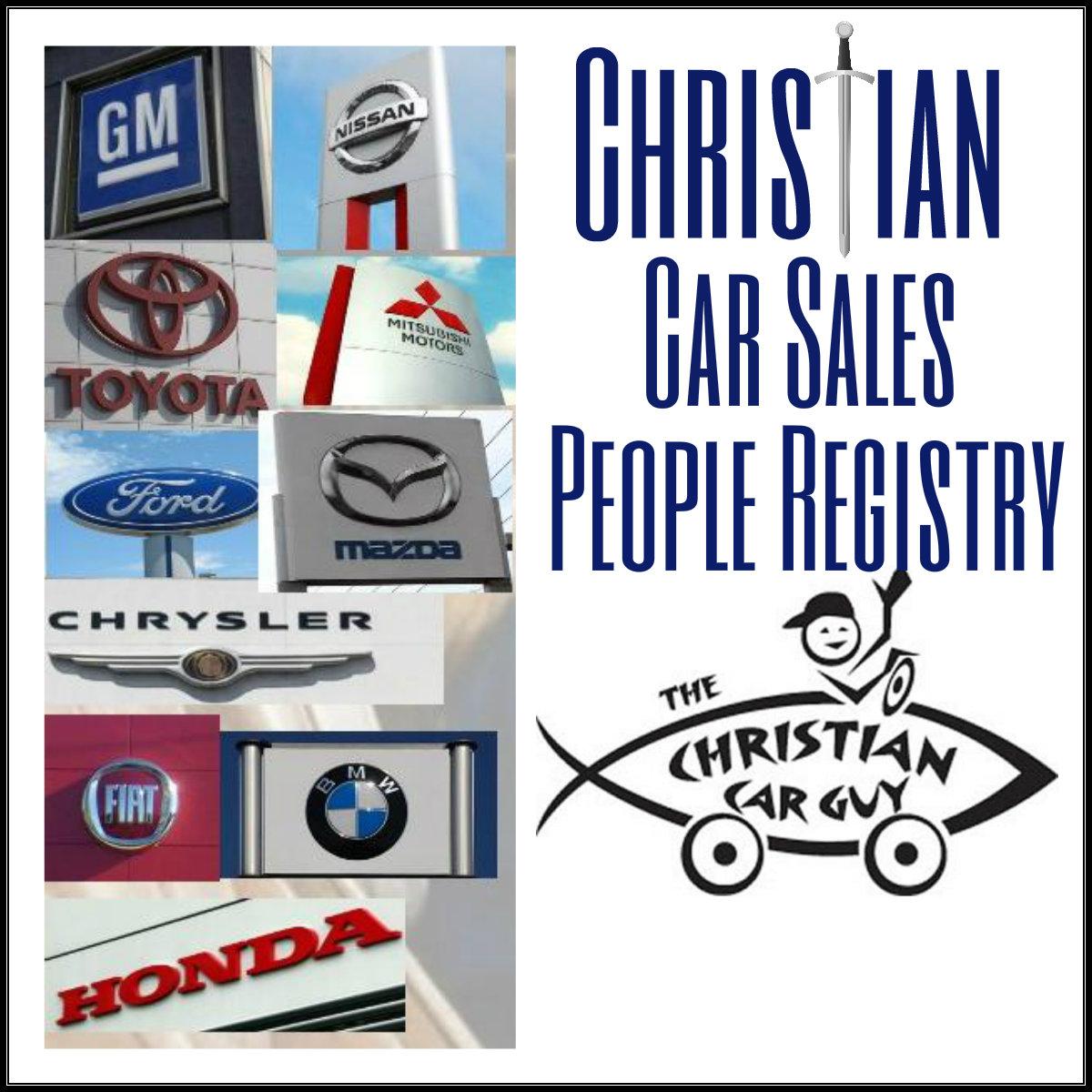 Christian Car Guy Sales People Registry