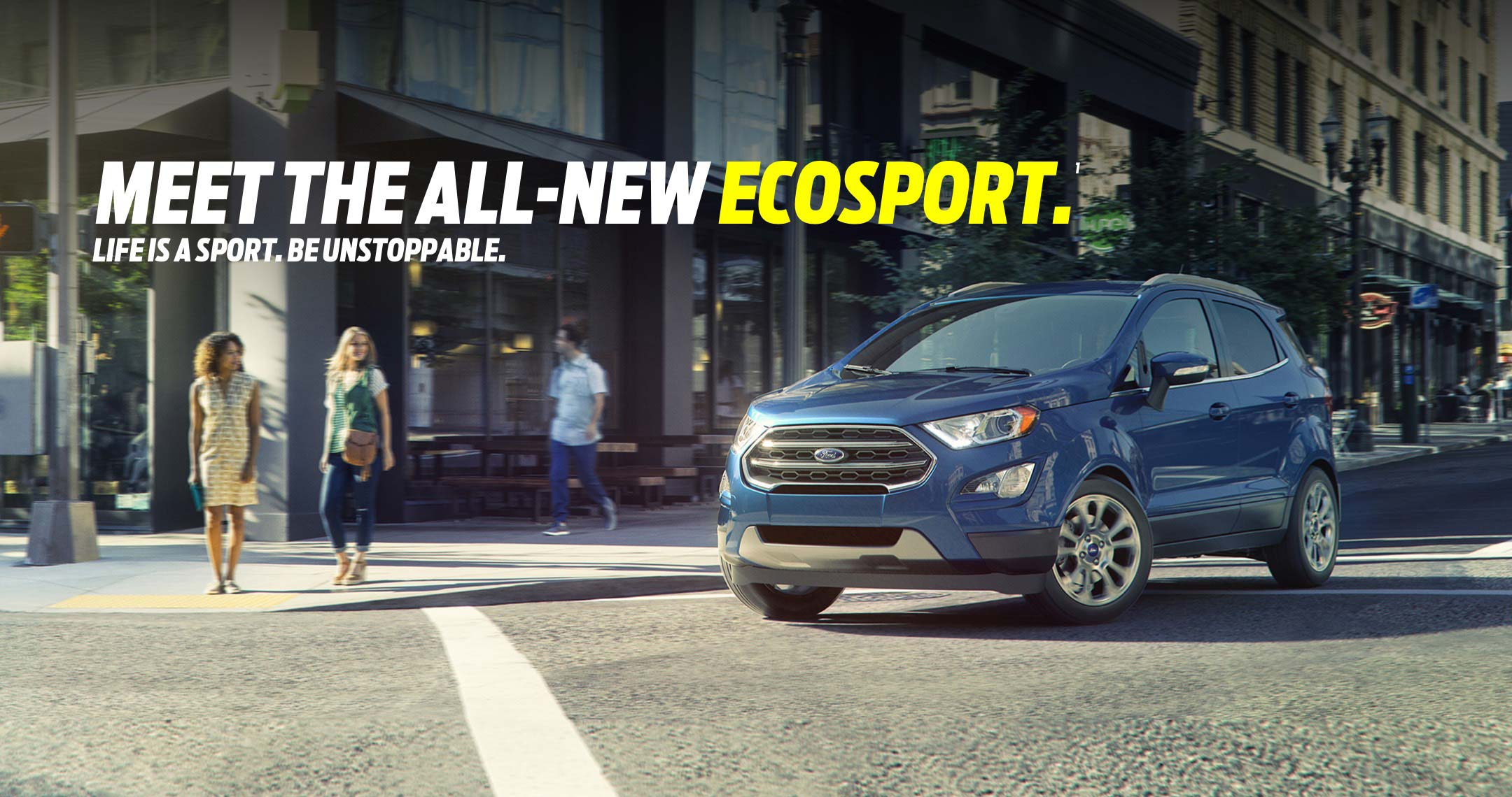 Go Small, Live Big with All-New EcoSport – Ford's Smallest SUV with the Biggest Personality