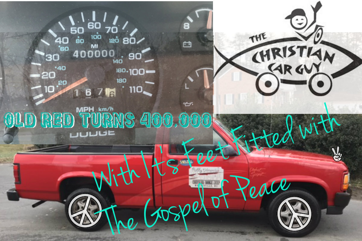 Old Red Turns 400,000 with It's Feet Fitted With The Gospel
