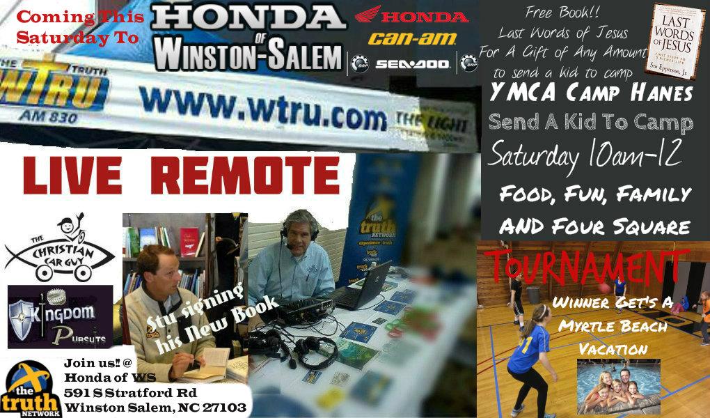 """Live"" Tomorrow at Honda of Winston Salem"