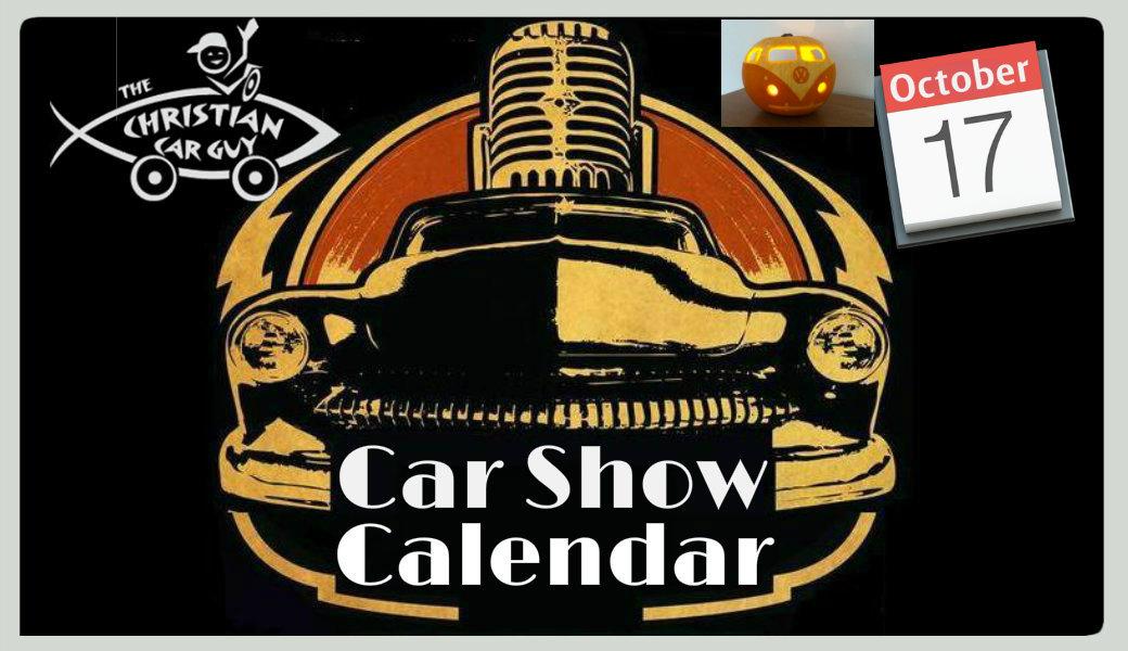 Car Show Calendar October 2017