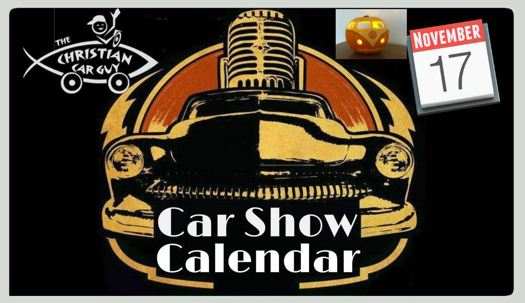 Car Show Calendar November 2017