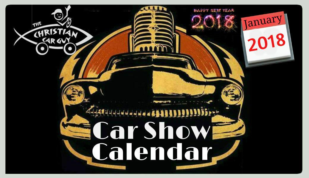 Car Show Calendar January 2018