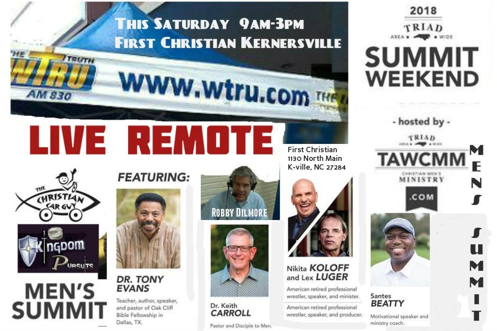 """Live"" This Saturday From The Triad Men's Summit"