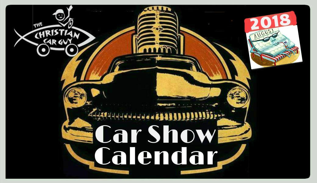 Car Show Calendar August 2018