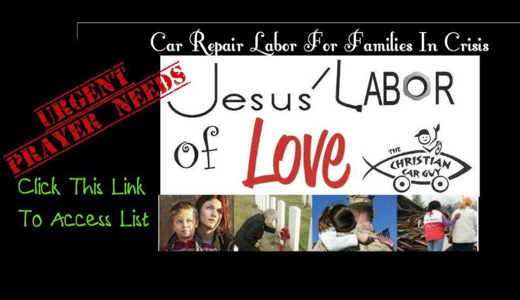 Urgent Jesus Labor Of Love Prayer Needs