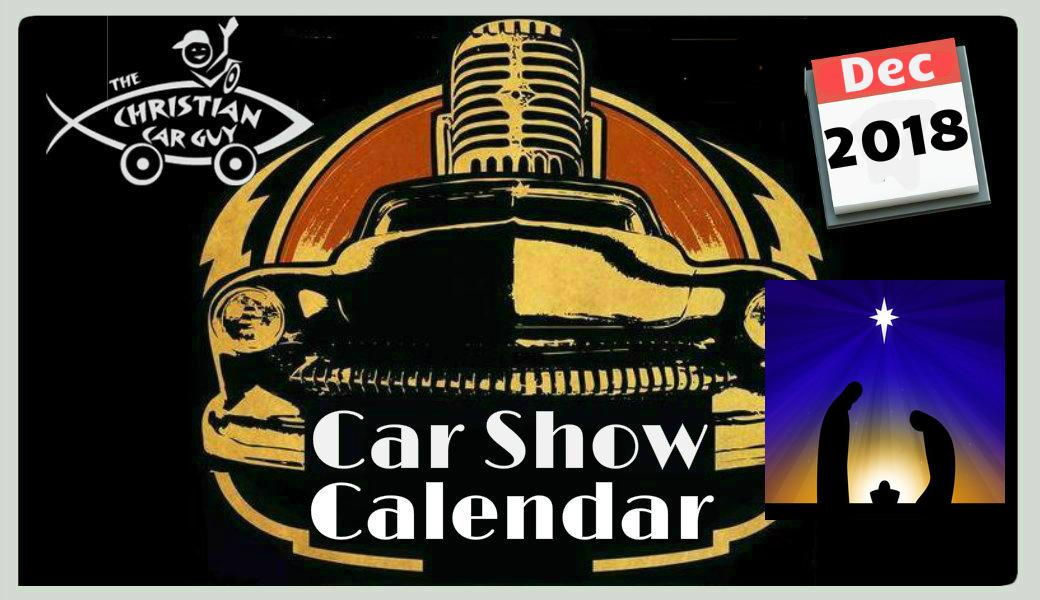 Car Show Calendar December 2018