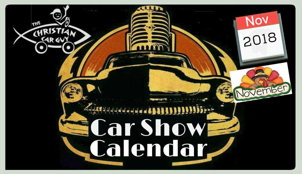 Car Show Calendar November 2018